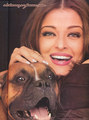Aishwarya with Daboo Ratnani's dog