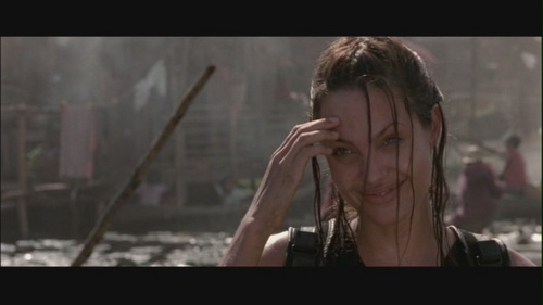 """Angelina Jolie wallpaper possibly containing a portrait titled Angelina Jolie in """"Lara Croft: Tomb Raider"""""""