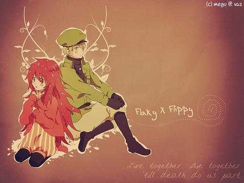 Аниме Flaky and Flippy Обои