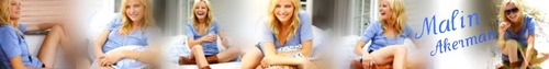 Malin Akerman photo called Banner