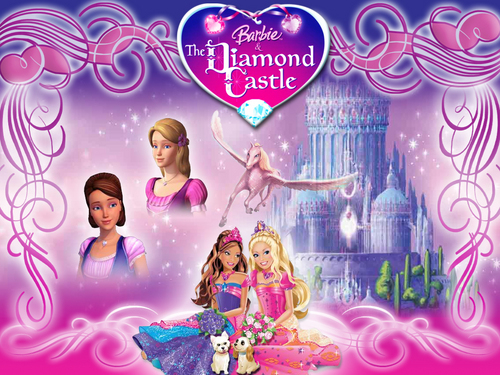 Barbie and the Diamond istana, castle kertas dinding