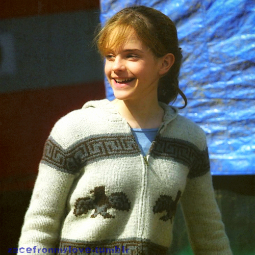 Emma Watson- Backstage- Harry Potter and the Prisoner of Azkaban