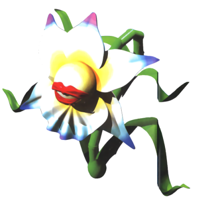 Super Mario RPG karatasi la kupamba ukuta possibly with a hippeastrum, an edelweiss, and a mountain lily titled Fink maua, ua