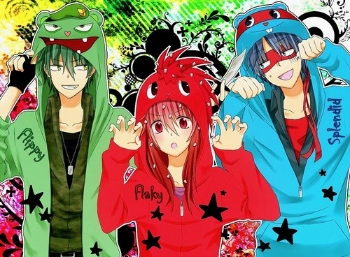 Happy Tree Friends wallpaper containing anime titled Flippy, Flaky and Splendid anime