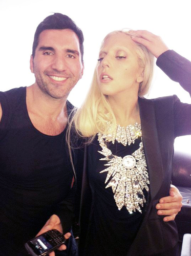 Gaga - On the set of the short film for Thierry Mugler