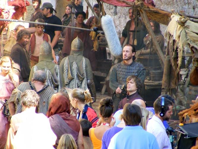 Game of Thrones- Season 2- Tyrion and Bronn on set