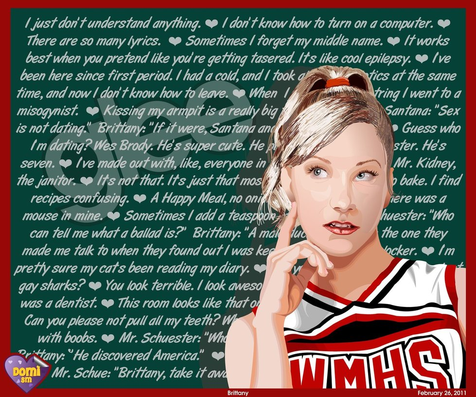 glee brittany and santana relationship quotes
