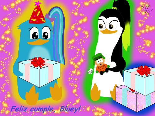 Happy (late) Birthday, Bluey! XD