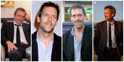 Hugh Laurie at various times