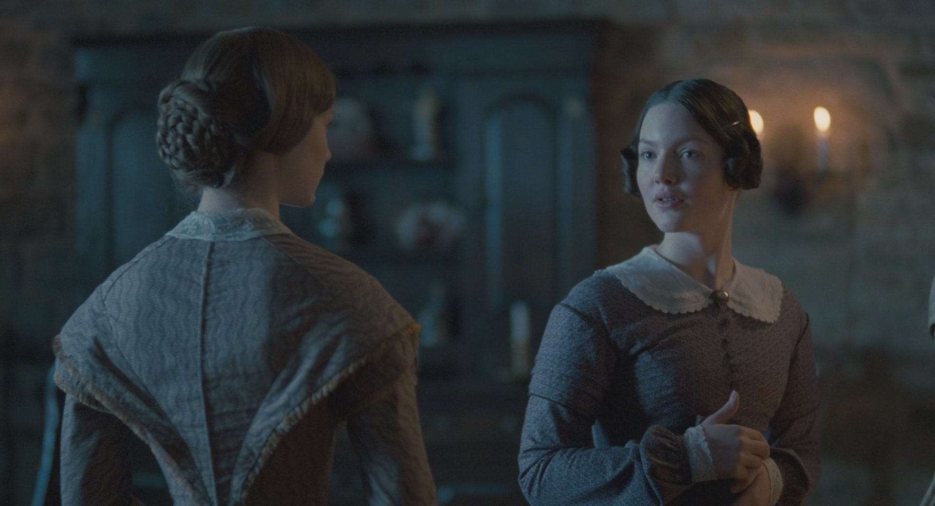 """jane eyre style Humorous discussion of the literary and cinematic rivalry between charlotte bronte and jane austen keyed to a new film version of """"jane eyre."""