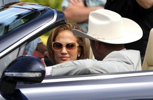 Jennifer - Parker.. Film set - Filming in Miami - September 22, 2011
