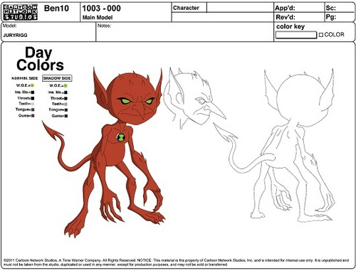 Ben 10: Ultimate Alien achtergrond possibly with anime titled Jury Rigg