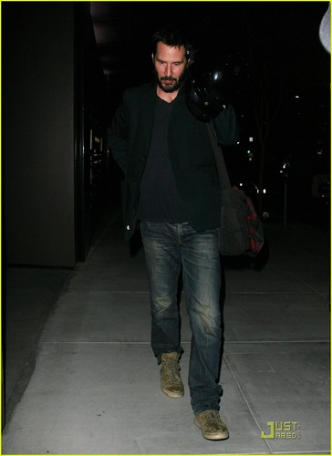 Keanu Reeves: Motorcycle Man!