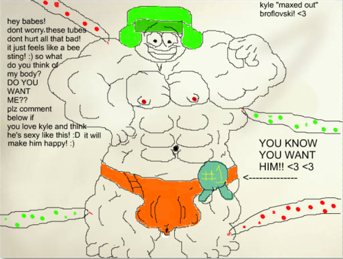 South Park karatasi la kupamba ukuta probably with anime entitled MAXED OUT kyle broflovski! muscle growth pic 2