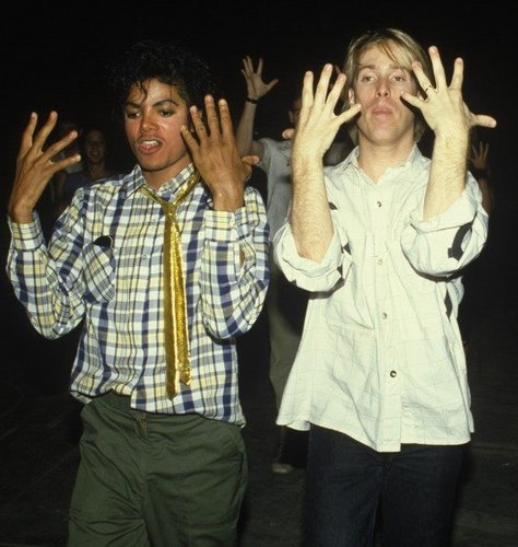 Michael doing something with his hands