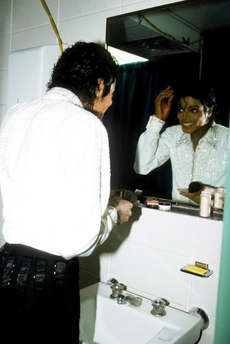 Michael in bathroom