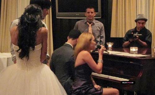 Miley At A Wedding