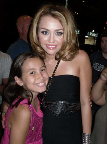 Miley With Friends/Fans.
