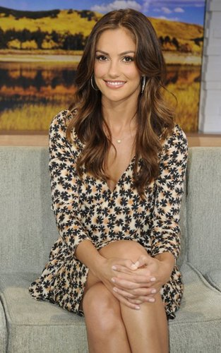 "Minka Kelly paying a visit to ""Good Morning America"" (September 22)."