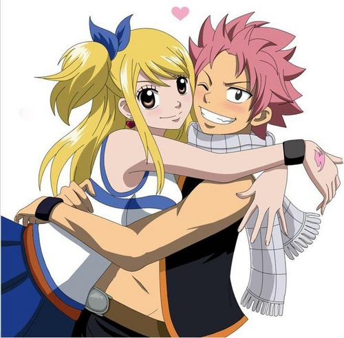 Fairy Tail wallpaper containing Anime titled Natsu X Lucy Forever <3