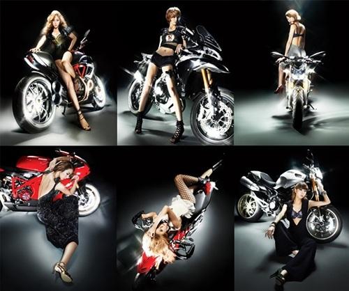 Nine Muses for Ducati Bikes