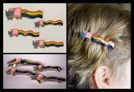 Nyan hair clip
