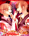Oh you two got food on your little faces! - hetalia-italy photo
