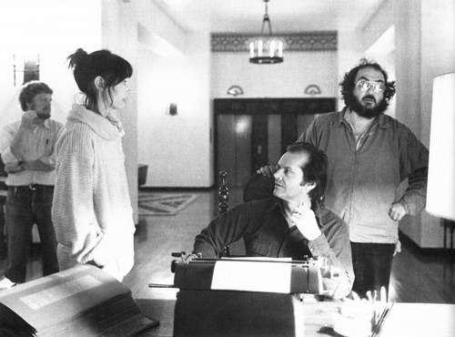 On the set of The Shining