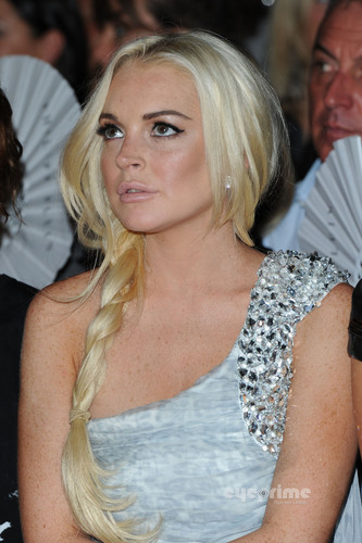 Lindsay Lohan wallpaper possibly containing a portrait entitled Philipp Plein Show during Milan Fashion Week, Sep 24