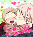 Prussia kissing baby Germany - hetalia-prussia photo