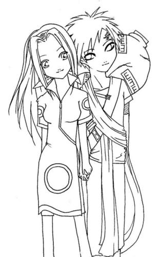 Sakura and Gaara