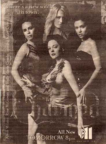 Charmed wallpaper possibly containing a bikini, a newspaper, and a portrait entitled Season 8 Promos