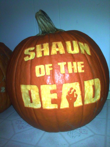 Shaun of the Dead wallpaper probably containing a jack o' lantern titled Shaun of the Dead Pumpkin
