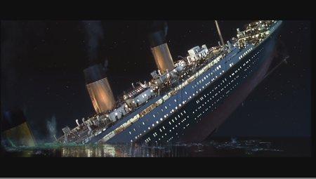 Sinking Titanic.