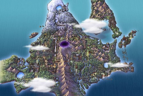 Sinnoh from above
