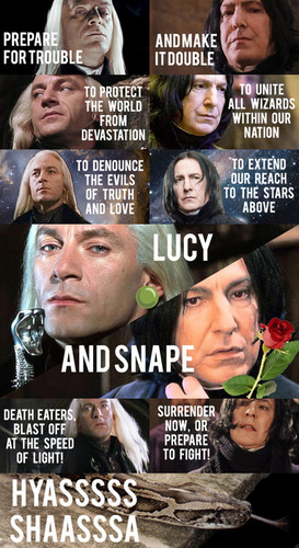 Snape and Lucius as Team Rocket XD