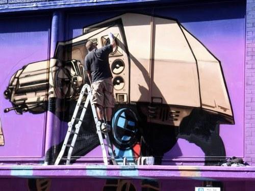 estrela wars- Awesome Graffiti