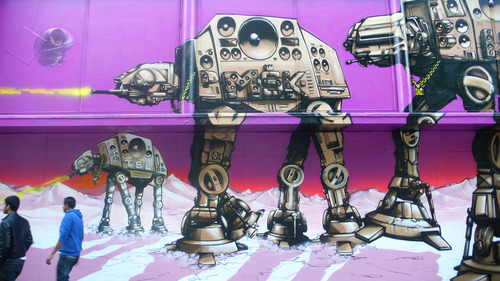 星, つ星 wars- Awesome Graffiti