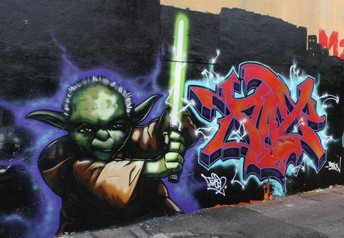 stella, star wars- Awesome Graffiti