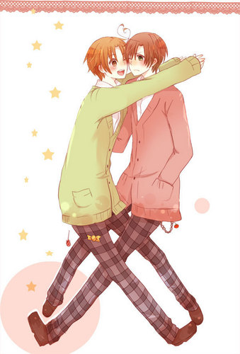 Hetalia Italy karatasi la kupamba ukuta with a bonnet entitled The cutest brothers~