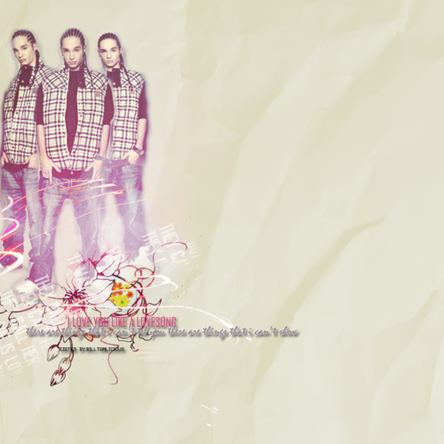 Tom Kaulitz 壁纸 probably with a bouquet entitled Tom