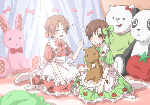 Hetalia Italy karatasi la kupamba ukuta probably containing anime entitled Too cute for words~