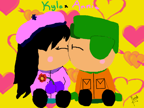 South Park kertas dinding with Anime entitled Whooo :) Annie x Kyle