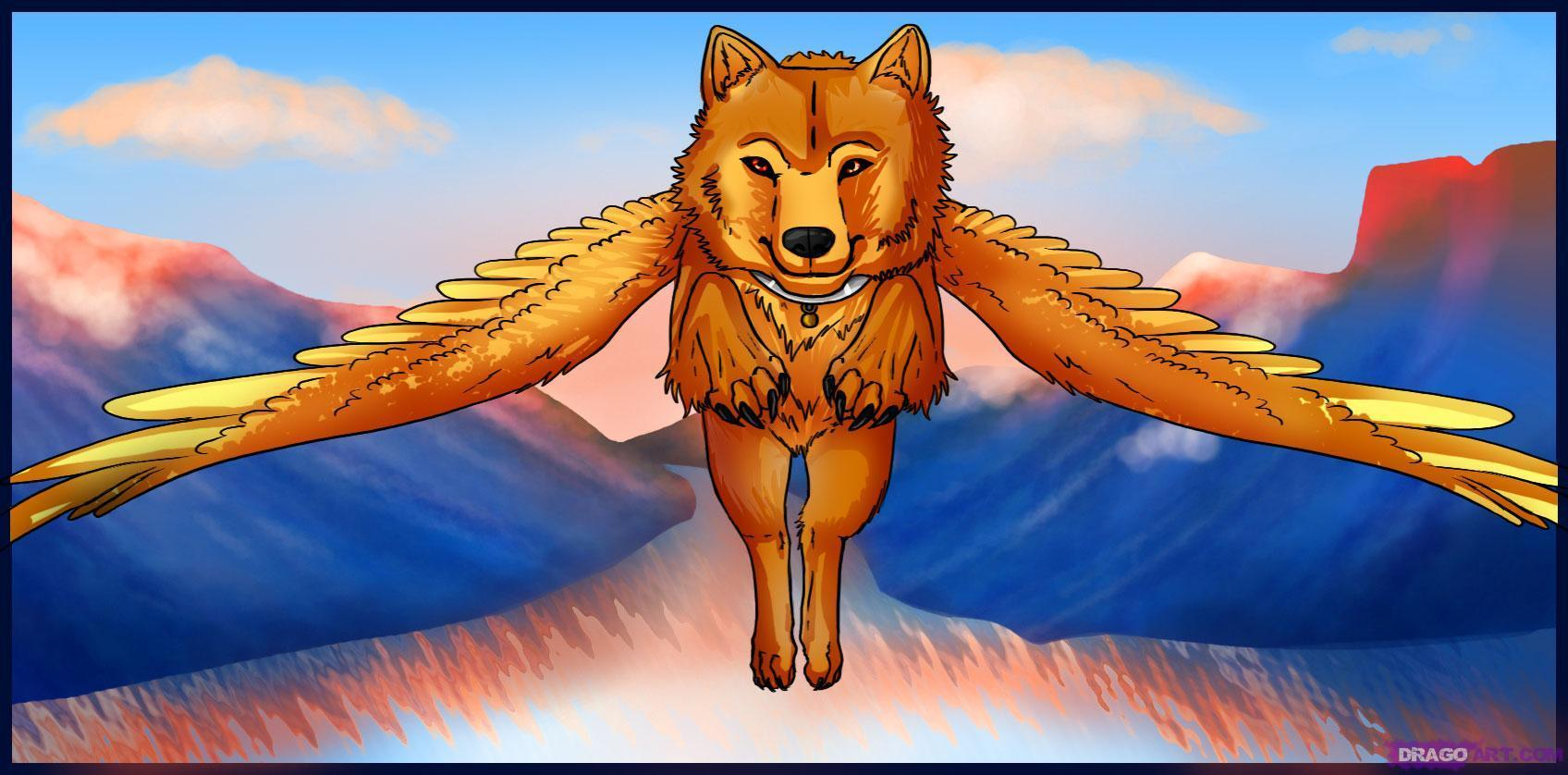 Wolves With Wings Images Winged Wolves Hd Wallpaper And Background