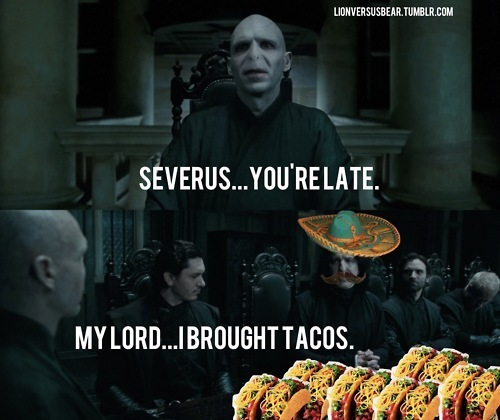 হ্যারি পটার দেওয়ালপত্র possibly with a টামালে entitled You're Late Severus