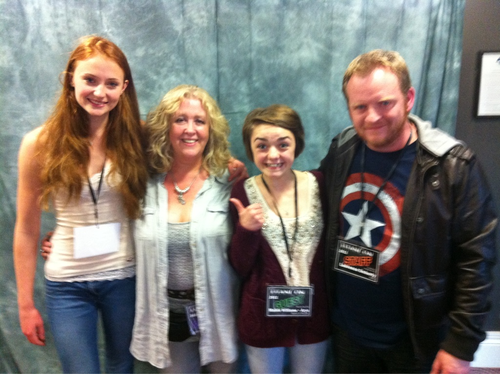 Sophie Turner & Maisie Williams @ TitanCon