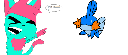 my kittek cures mudkip lolz