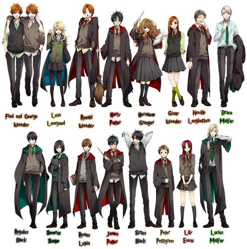 Harry Potter Anime wallpaper called :D