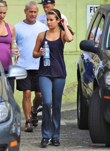 Lea leaving the gym - September 26, 2011