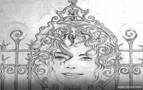 rare 照片 of michael jackson's drawings